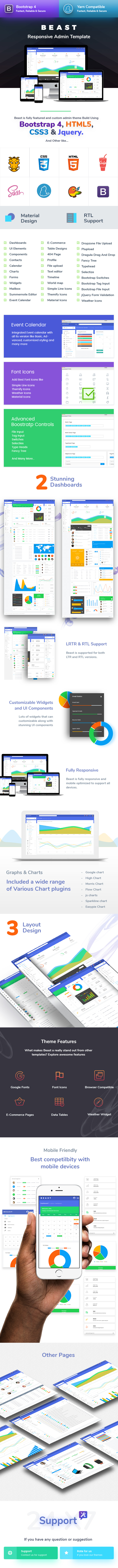 Bootstrap 4 Admin Template - 2