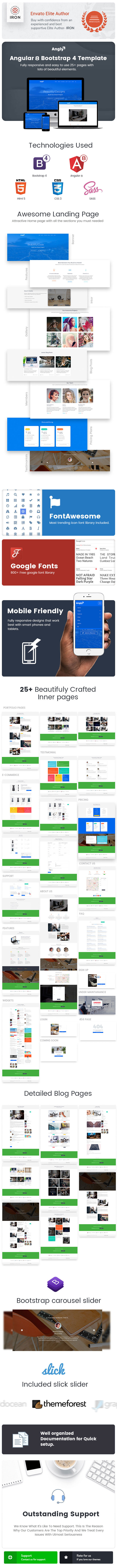 Angly - Angular 8 Bootstrap 4 Multipurpose  Template - 2