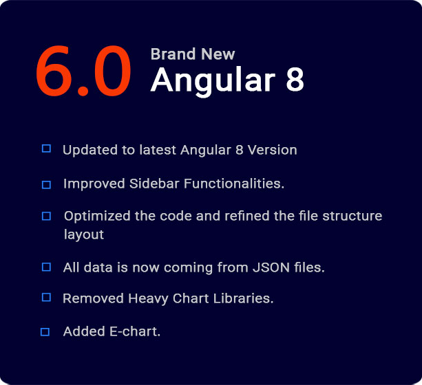 Angular 8 Admin Template with Material Design - 1