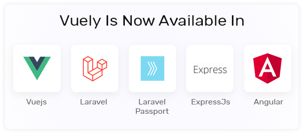 Vuely - Vuejs, Laravel, Angular 8, Expressjs Material Design Admin Template - 2